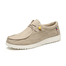 2021 Summer New Men's Canvas Boat Shoes Outdoor Convertible Slip On Loafer Fashion Casual Flat Non-Slip Deck Shoes Big Size 47