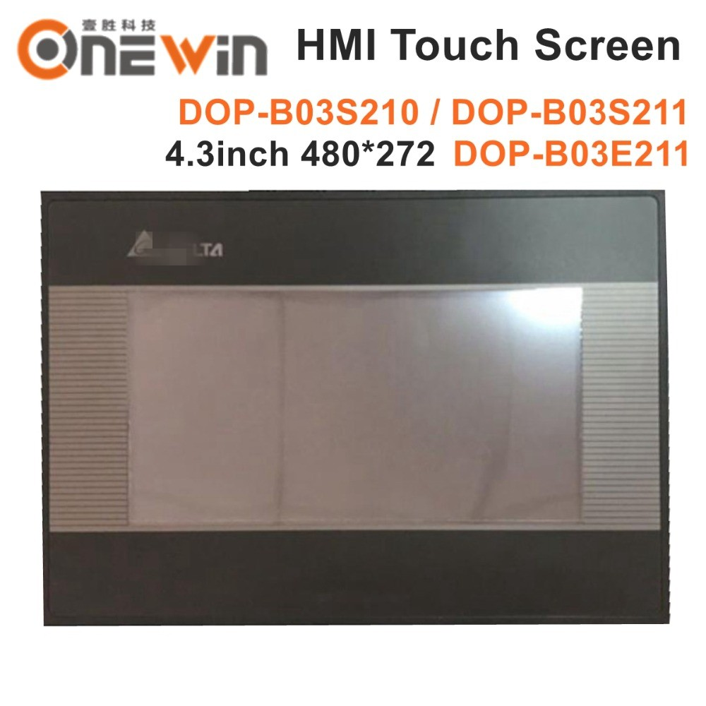 new and original DOP B03S210 DOP B03S211 DOP B03E211 HMI touch screen 4 3 inch 480