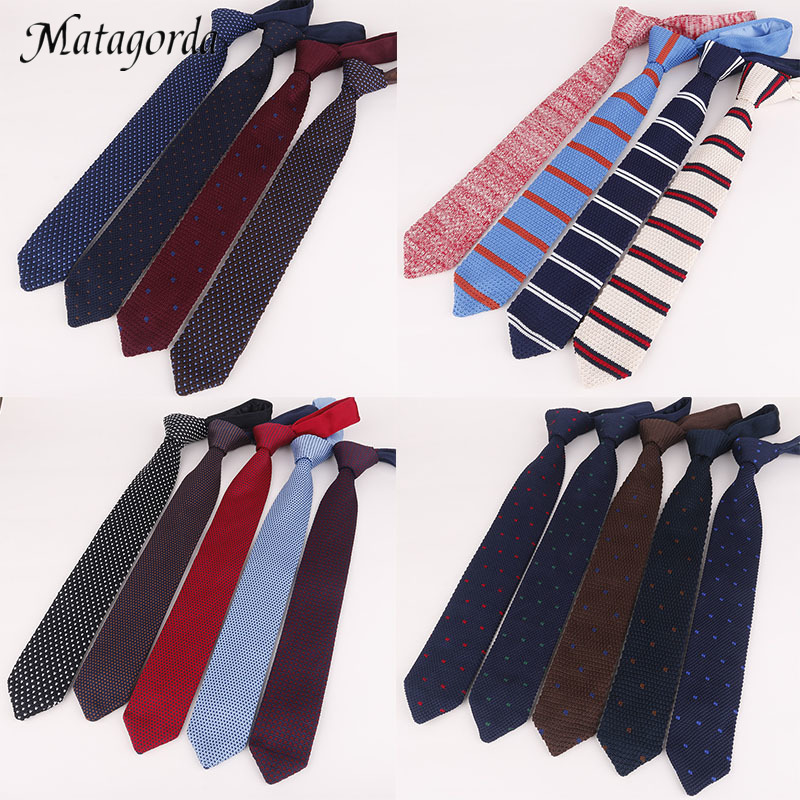 7CM Men Tie Knit Tie Necktie Pointed Neck Tie Formal Gravata Dress Accessories Wedding Banquet Neckwear Gift For Father's Day