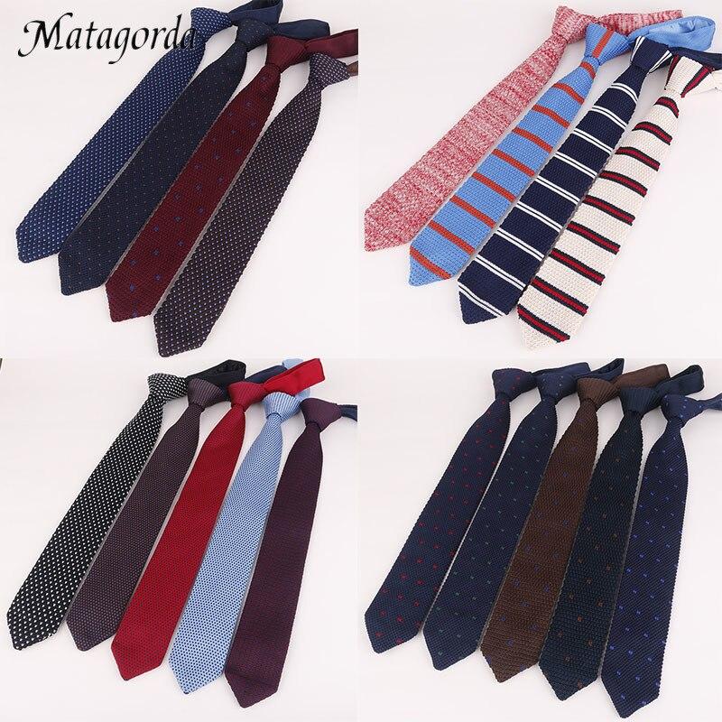 7CM Men Tie Knit Tie Necktie Pointed Neck Tie Formal Gravata Dress Accessories Wedding Banquet Neckwear Gift for Father's Day