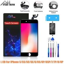AAAA מסך LCD עבור iPhone 5 5C SE 5S 6 6S 7 8 בתוספת מלאה תצוגת Digitizer לא מת פיקסל 3D מגע החלפת LCD