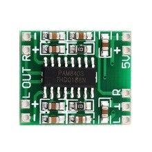 Зеленый PAM8403 Супер Мини цифровой усилитель доска 2*3 Вт Класс D Цифровой 2,5 в до 5 В Усилитель мощности доска эффективная Горячая Новинка