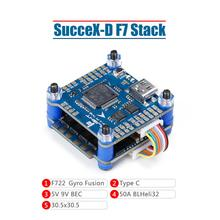 iFlight SucceX D F7 TwinG Stack with SucceX D F7 TwinG V2.1 FC/SucceX 50A 2 6S BLHeli_32 4 in 1 ESC for HD FPV system