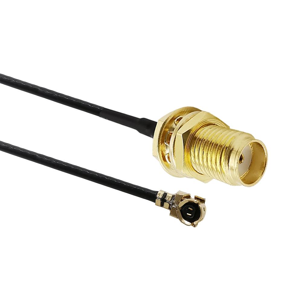 FL conector antena conversor conector Pigtail Pack de 2 IPEX a SMA antena Cable de extensi/ón para Mini PCI-E PCI tarjeta de WiFi rf-sma a IPEX U