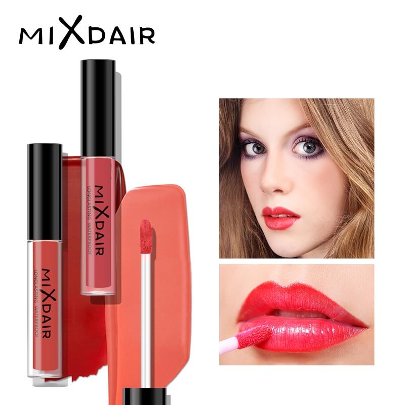 MIXDAIR Matte Lipstick Makeup Lip Stick Waterproof Smooth Lip Tint Long-lasting Lip Gloss Beauty Cosmetics Professional Make Up