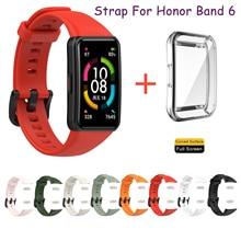 Siliconen Sport Band Bandjes Voor Huawei Honor Band 6 Band Smart Polsband Armband Vervanging Horlogeband Voor Honor Band6