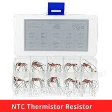 100pcs=10value*10pcs NTC Thermistor Resistor Kit NTC-MF58 2K 5K 10K 15K 20K 50K 100K 200K 500K 1M Temperature sensor +/-5% 3950B
