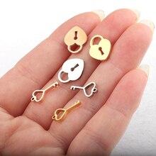 Ключ от замка «любовь» кулон замок из нержавеющей стали подвески с ключиками комбинация для DIY пара ожерелье любовь подарок ювелирных изделий