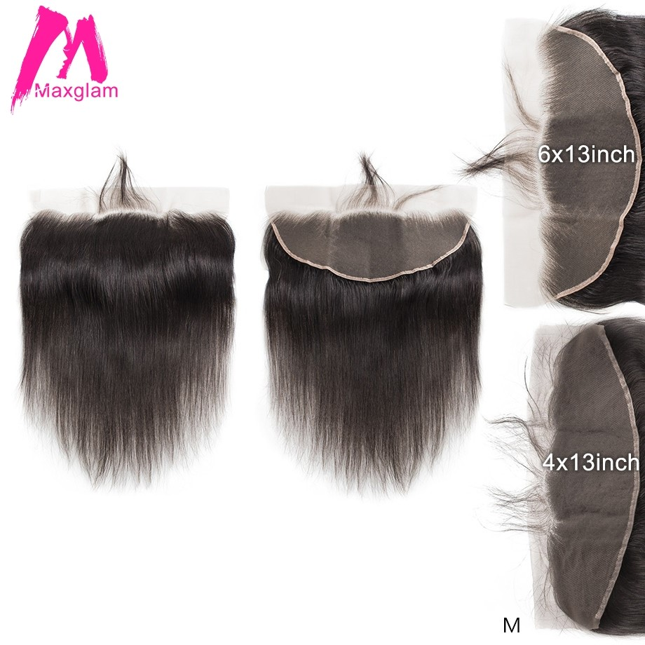 Brazilian Human Hair Lace Frontal Closure Straight Natural Pre Plucked Remy Hair Short Long 13x6 13x4 Swiss Lace For Black Women