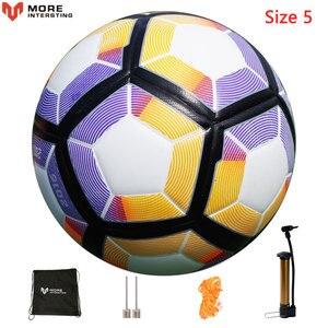 Image 5 - Russland Professionelle Größe 4 Größe 5 Fußball Premier PU Nahtlose Fußball Ball Ziel Team Spiel Training Bälle League futbol bola