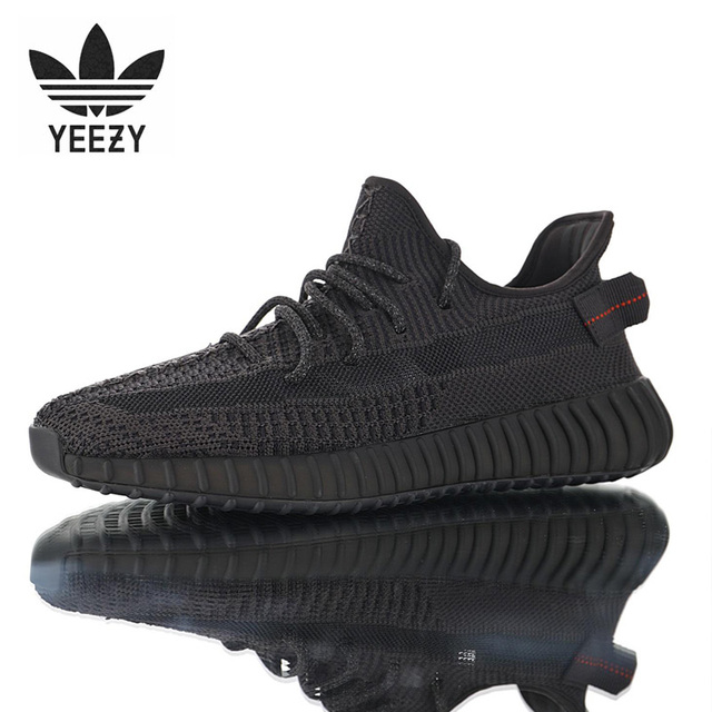 2019 Adidas Yeezy 350 V2 Men Running Shoes Sports Women Shoes Sneakers Trainers Yecheil Black Static Size 36-47 Y12-Y31