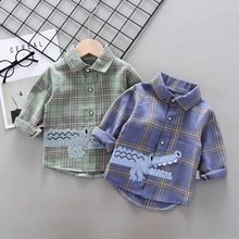 IENENS Baby Shirt Clothes Spring Thin Shirts Toddler Infant Boy Long Sleeve Tees Tops 1 2 3 4 Years Kids  Cotton Shirt