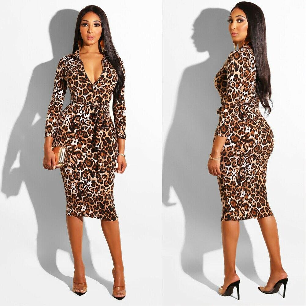Women Casual Dress Sexy Deep V Bodycon Dress Ladies Bandage Dress Long Sleeve Sheath Slim Clubwear Party Midi Dress Autumn Hot
