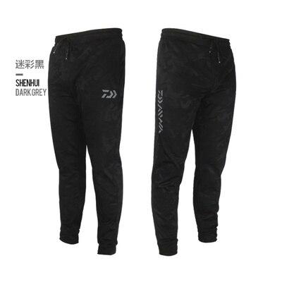 Daiwa Men Outdoor Sports Pants Camouflage Fishing Pants Anti-static Anti-UV Quick Drying Windproof Breathable Pants