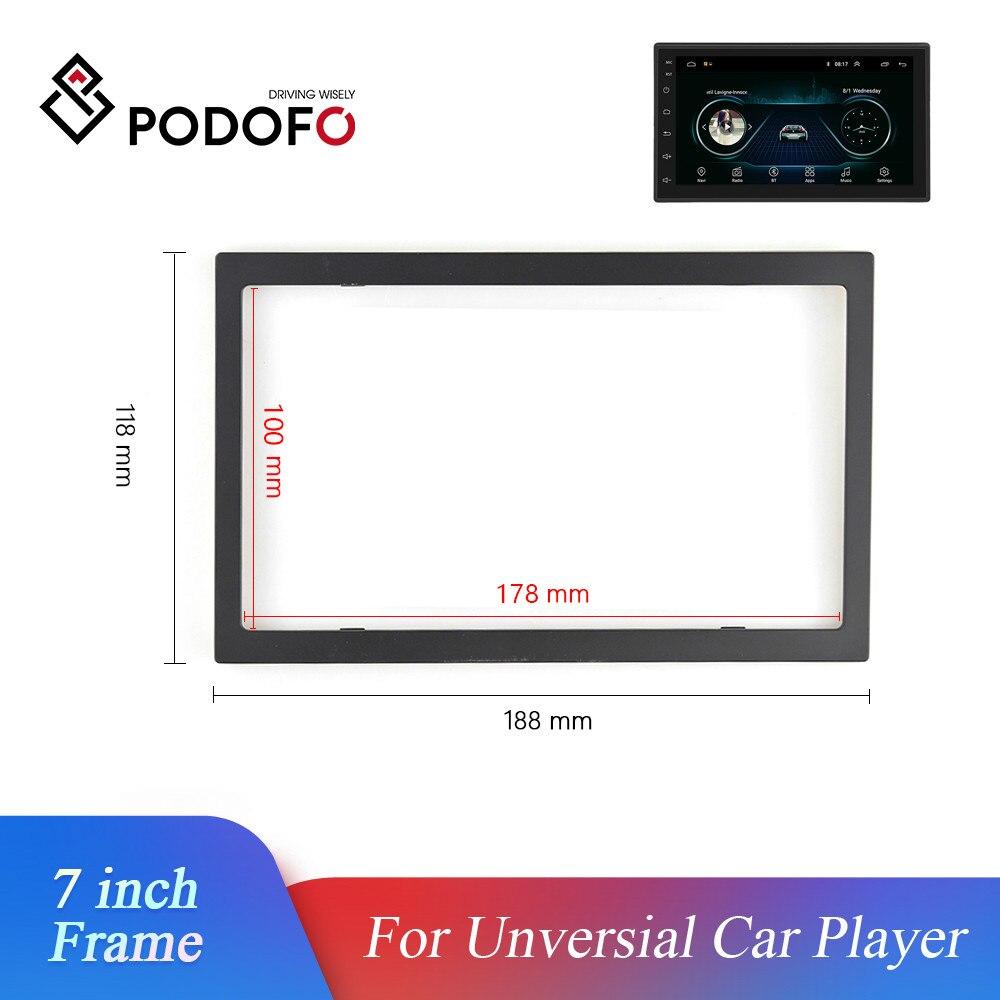 Podofo 2 Din рамка для автомобильного радио 7 дюймов безversial рамка для автомобильного плеера автомобильный мультимедийный плеер пластиковая рам...
