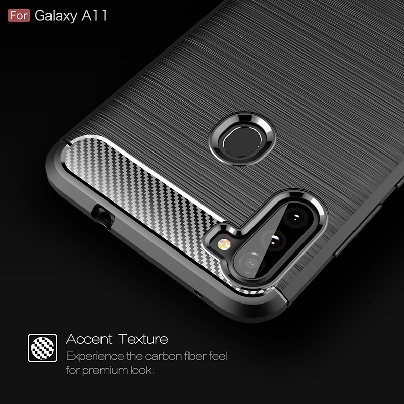 For Samsung Galaxy A11 A115F Case Carbon Fiber Bumper Cover For Samsung A41 A31 A51 A71 S20 Ultra M11 M21 M31 A21S A11 Fundas