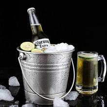 Stainless Steel Ice Bucket Portable Ice Chiller Cooler with Handle Ice Cube Container for Wine Champagne Beer Party Bar Tools free shipping plastic led ice bucket color changing plastic ice bucket luminous ice pail ice cooler glow beer cask wine barrel