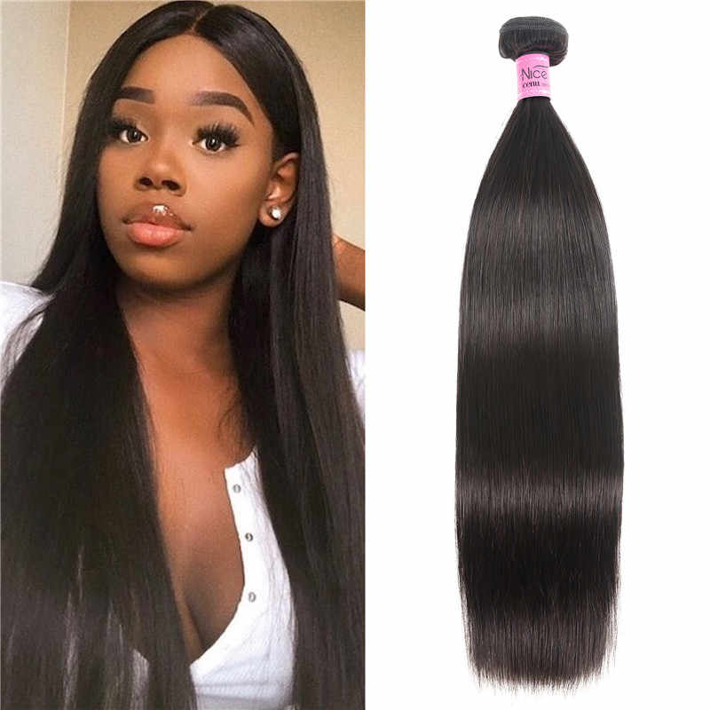 Unice Hair Straight Brazilian Hair Weave Bundles 1 Bundle 100% Human Hair Natural Color Remy Hair Extension