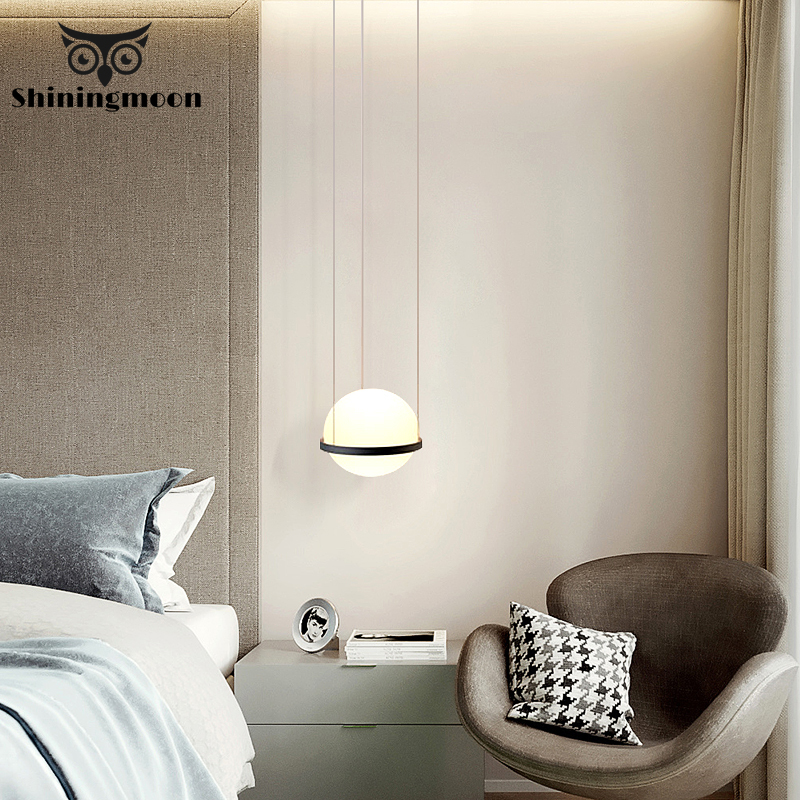 Nordic Glass Ball Pendant Lights For Living Room Bedroom Hanging Lamp Luminaire Bar Cafe Home Art Decor Hanglamp Light Fixtures