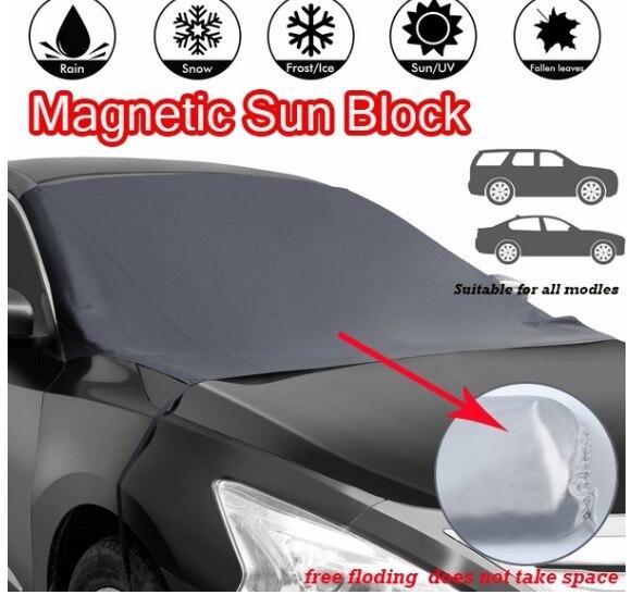 Магнитное лобовое стекло автомобиля, защита от снега, защита от снега, защита от солнца, защита от мороза, противотуманная защита, универсальная защита от солнца для автомобиля - Color: TWO