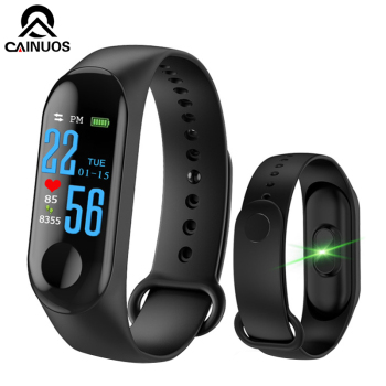 CAINUOS Brand Smart Watch Bracelet Heart Rate/Blood Pressure Monitor Pulse Wristband Fitness Tracker For Iphone Xiaomi k6 color screen smart wristband sports bracelet heart rate blood pressure monitor fitness tracker for samsung galaxy s6 s5 s4 s3