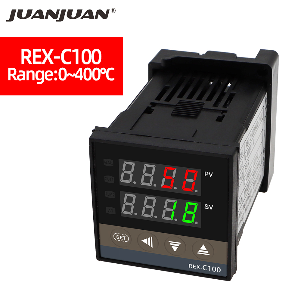 <font><b>REX</b></font>-C100 Temperature Controller Thermostat Digital Controller Thermocouple PID 0 to 400 °c K <font><b>REX</b></font>-<font><b>C100FK02</b></font>-<font><b>V*AN</b></font> SSR output 40%off image