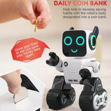 Programmable RC Robot Voice Control Sing Dance Built-in Coin Bank Kids Toy Smart Robotic for Kids beautifully designed toy gifts(China)
