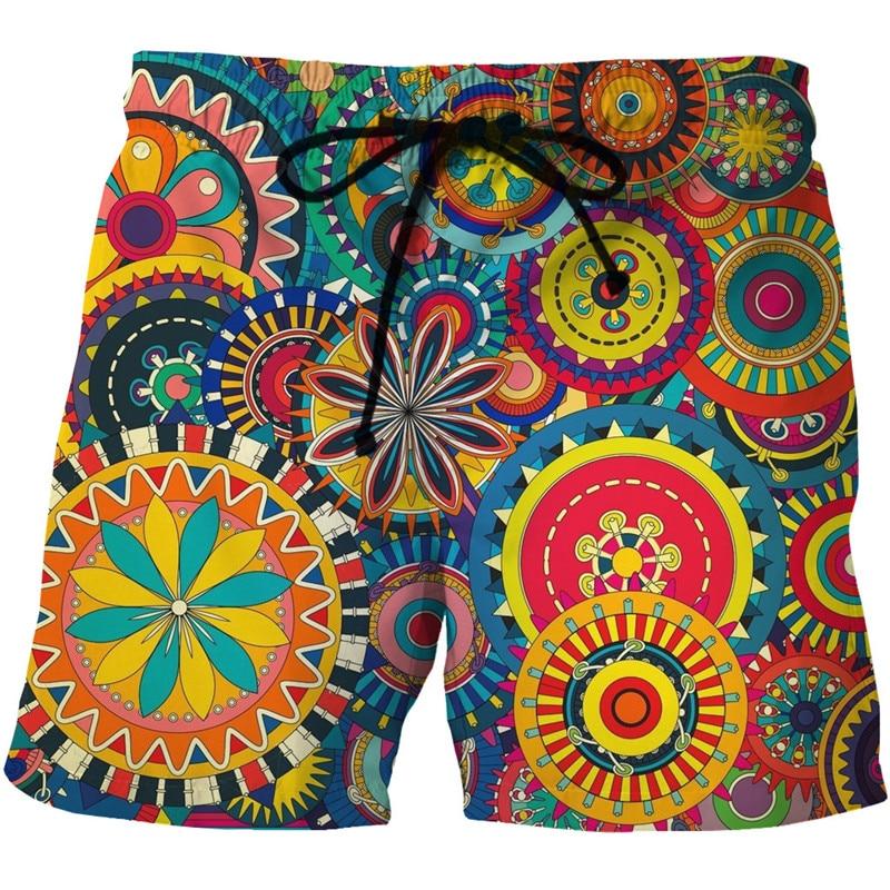 Mens Quick Dry Summer Beach Board Boxer Shorts Trunks 2020 Fashion 3D African Dashiki Print Boardshorts Men Hip Hop Short Homme