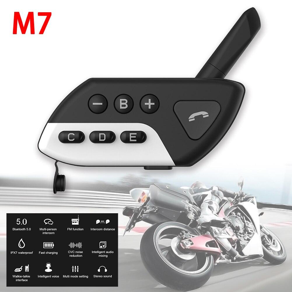 Motorcycle Intercom M7 Multi BT Interphone Bluetooth Motorcycle Helmet Intercoms Intercomunicador Moto Interfones Headset FM MP3