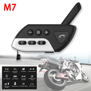 Motorcycle Intercom M7 Multi BT Interphone Bluetooth Helmet Intercoms Intercomunicador Moto Interfones Headset FM MP3