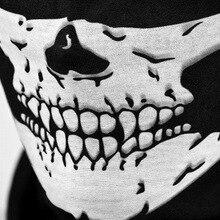 Мотоциклетная Спортивная маска с 3D черепом, теплая маска для лица, Ветрозащитная маска для езды на велосипеде, на открытом воздухе, мотоциклетная маска, пылезащитные маски, шлем