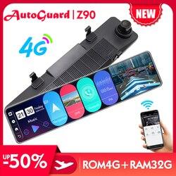 12 Inch 4G Android 8.1 Car DVR Dash Camera ADAS FHD 1080P Car Video Recorder Dual Lens GPS WiFi Dash Cam Rearview Mirror