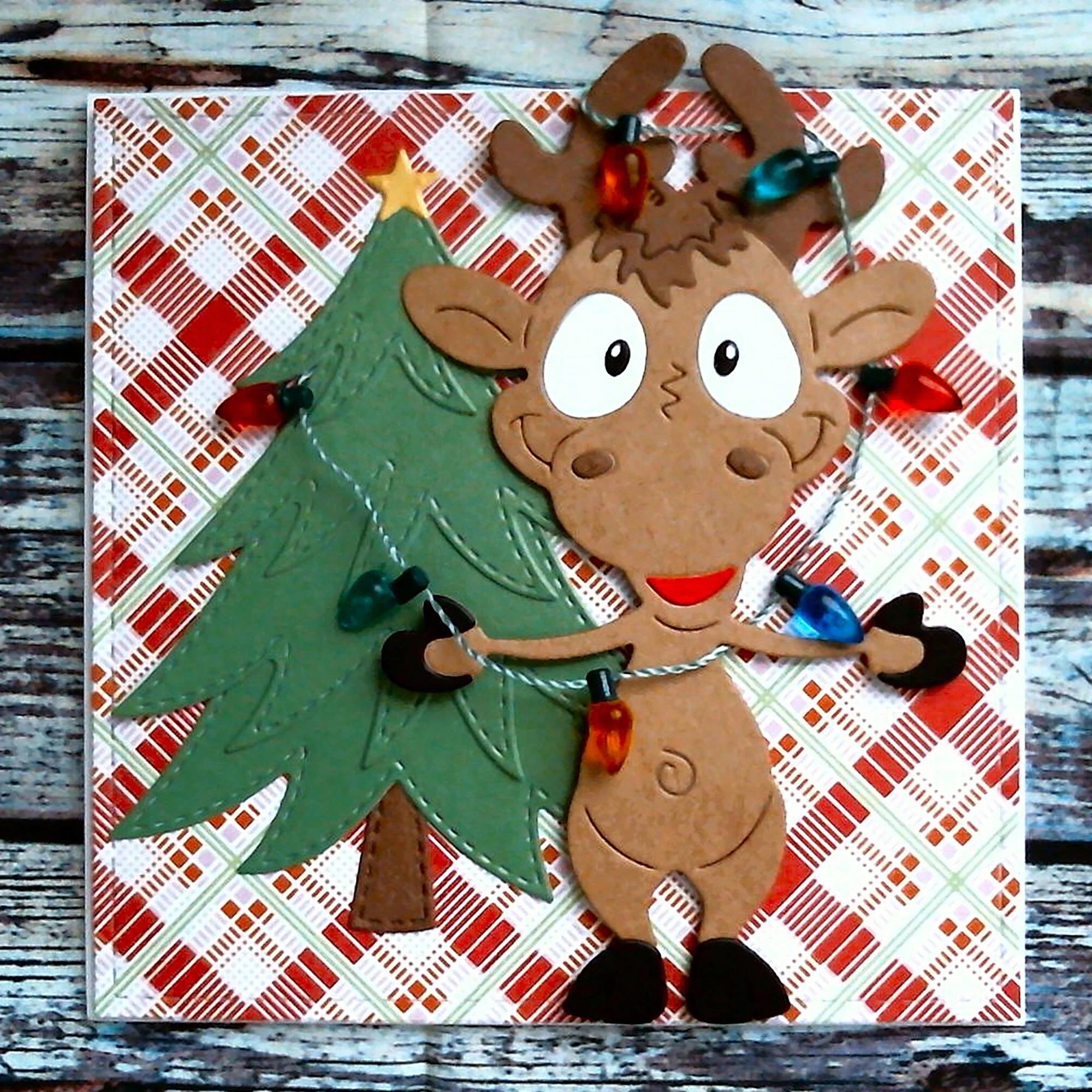 Santa and the Elves Christmas Present Metal Die Cutters-