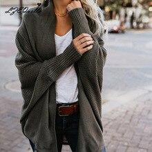 """Женский свитер, пуговицы, вязаный кардиган, рукав """"летучая мышь"""", ребристый вырез, трикотажное пальто, Осень-зима, модные Джемперы для женщин"""