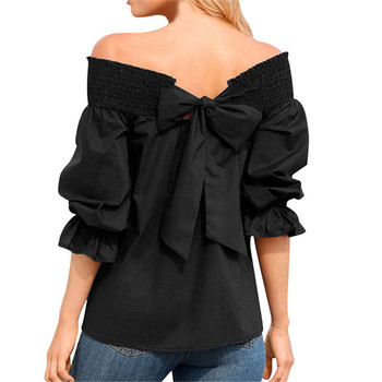 2020 new blouses, off-shoulder shirts, blouses, puff sleeves and bow blouses, blouses фото