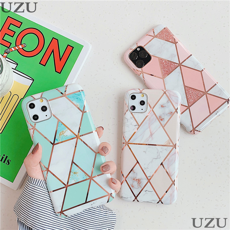 Marble Hybrid Silicone <font><b>Case</b></font> For <font><b>iphone</b></font> 6 6S 7 8 Plus <font><b>X</b></font> XR XS Max Glossy Matte Cover For <font><b>iphone</b></font> 11 Pro Max 6 6S 7 8 Plus etui image