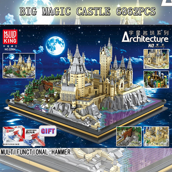 16060 Movie Castle Series Magic School of Witchcraft and Wizardry Model Building Blocks Fit Creator Expert Bricks Toys For Kids image