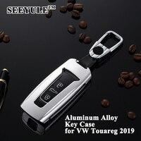 1pc SEEYULE nouveau style voiture clé couverture protecteur porte-clés coquille Refit voiture accessoires pour VW Volkswagen Touareg 2019