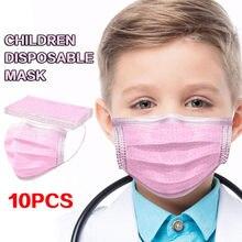 Mascarilla desechable de tres capas para niños, máscara de protección antipolvo a prueba de dibujos animados, desechable
