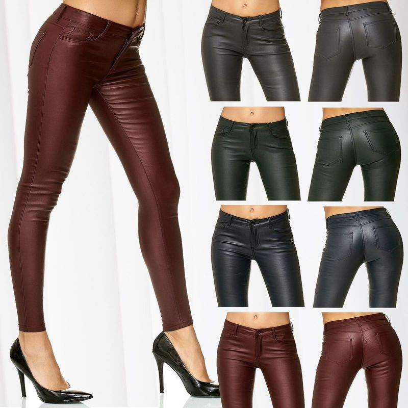 ZOGAA Women PU Leather Pants Skinny Sexy Trousers 2019 New Fashions Solid Pencil Pants Ladies Pants Biker Art Leather Trousers