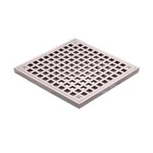 15 x 15cm Outdoor Square Brass Grid Drainer Floor Drain Trap Waste Grate Nickel Ventilation Masks 15 x 15 square bathroom shower drain floor drain trap waste grate antique brass grid drain