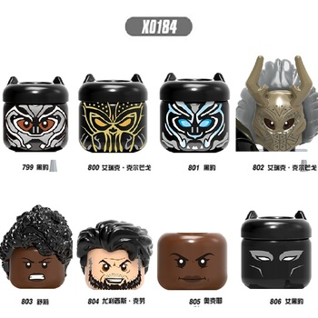 Building Blocks Heroes Ulysses Klaw Panther Erick Killmonger Shuri Figures For Children Toys Head X0184 image