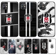 цена Turkey Besiktas Black Soft Shell Phone Case Capa For iphone 4 4s 5 5s 5c se 6 6s 7 8 plus x xs xr 11 pro max онлайн в 2017 году