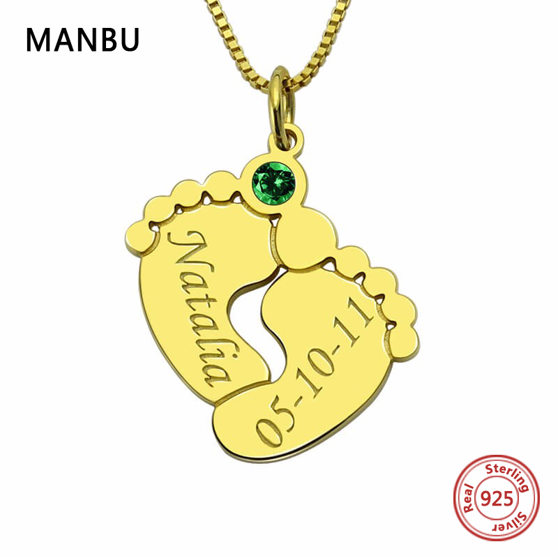 hot sale personalized necklace custom pendant silver chain fashion jewelry stones nameplate for women couple anniversary gift in Pendant Necklaces from Jewelry Accessories