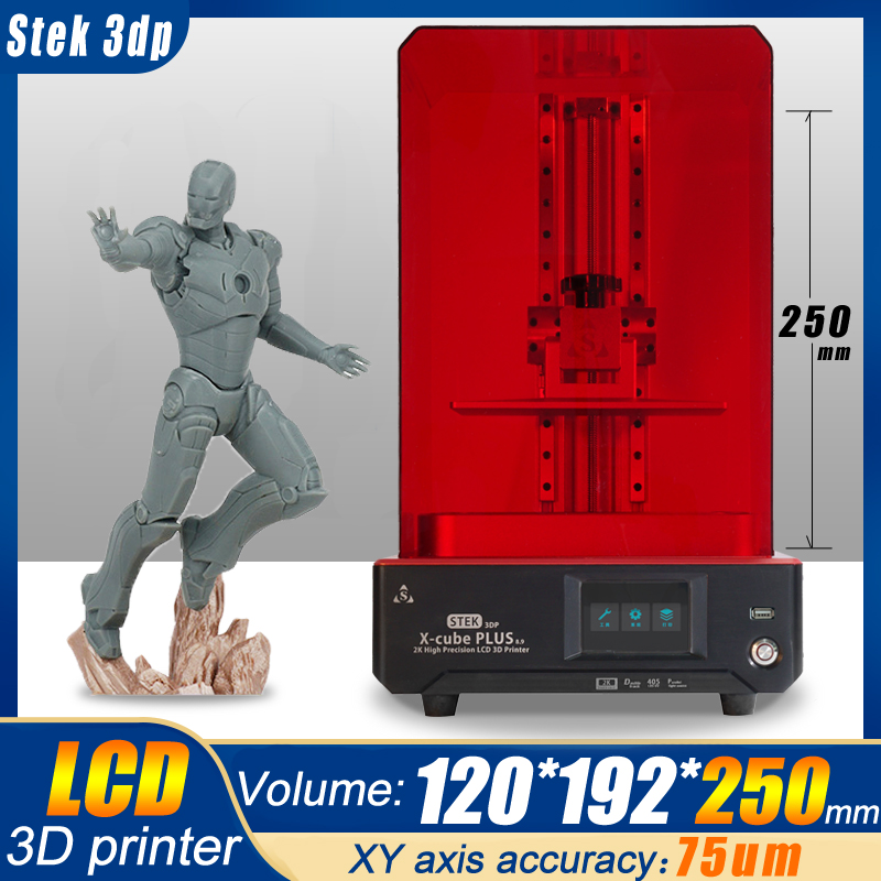 STEK3DP new x-cube V3/V4 light curing UV resin SLA /LCD/DLP 3D printer 2k with high precision jewelry dentistry precision parts 1