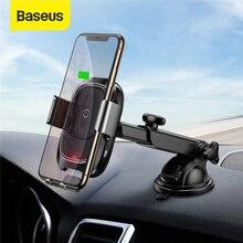 Baseus 10 Вт Qi автомобильное беспроводное зарядное устройство для iPhone X XS 8 Samsung S10 S9 инфракрасная индукция быстрая Беспроводная зарядка автомобильное зарядное устройство для телефона