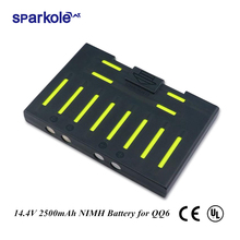 Sparkole 14.4V 2500mAh NIMH Battery for Cleanmate QQ6 QQ6S Vacuum Cleaning for Robot Vacuum Cleaner QQ6 (UL&CE)