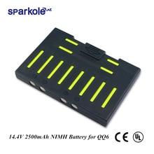 Sparkole 14.4V 2500mAh NIMH סוללה עבור Cleanmate QQ6 QQ6S ואקום ניקוי עבור רובוט שואב אבק QQ6 (UL & CE)