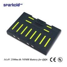 Sparkole 14.4V 2500mAh baterii NIMH dla Cleanmate QQ6 QQ6S odkurzacz do czyszczenia dla odkurzacz robot QQ6 (UL i CE)