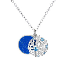 Strollgirl Hot Sale 925 Sterling Silver Snowflake Pendant Necklaces with Blue CZ for Women Fashion Jewelry Valentine's Day Gift ztung gop9 for us fashion ziron flowers pendant send with white and blue material 925 silver chian for women wonderful gift